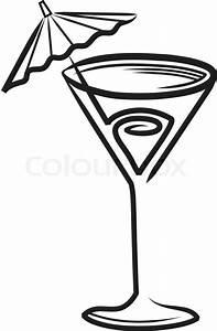 cocktail glas mit sonnenschirm clipart vektorgrafik With französischer balkon mit sonnenschirm clipart