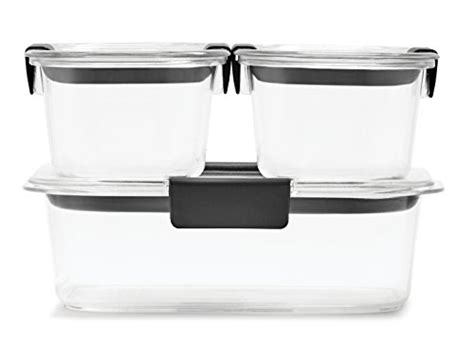 rubbermaid kitchen storage containers rubbermaid brilliance food storage container 6 set 4947