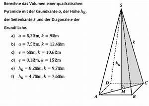 Quadratische Pyramide A Berechnen : volumen einer quadratischen pyramide mathelounge ~ Themetempest.com Abrechnung