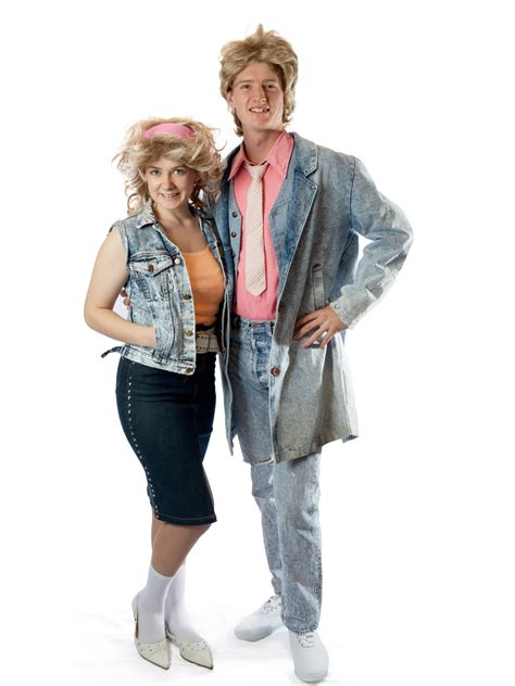 wham outfits denim 80 s couplecreative costumes