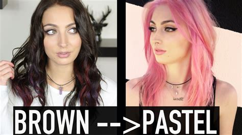 Brown To Pastel Hair