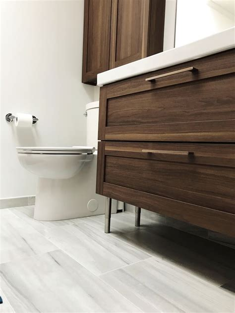 ikea godmorgon walnut  drawer vanity ikea bathroom