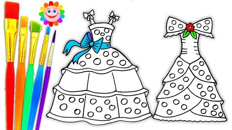 coloring pages dresses  girls drawing pages  learn