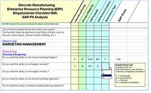 software system requirements checklist fit gap analysis With erp requirements document template
