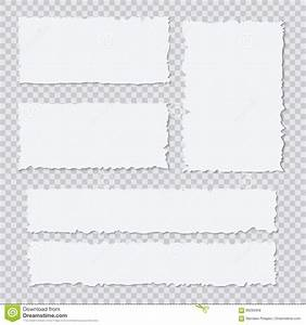 Blank White Torn Paper Pieces On Transparent Background ...