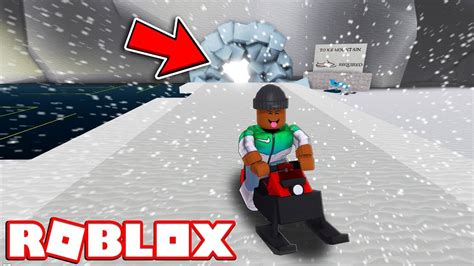 visiting ice mountain roblox snow shoveling simulator