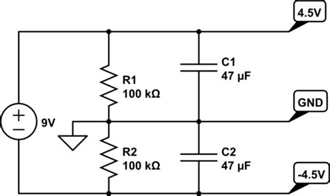 Operational Amplifier Symmetrical Power Supply Circuit