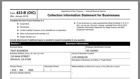 Irs Form 443a by Form 433 A Instructions Gallery Form 1040 Instructions