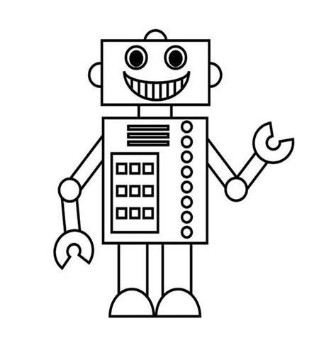 smiling robot coloring pages  place  color