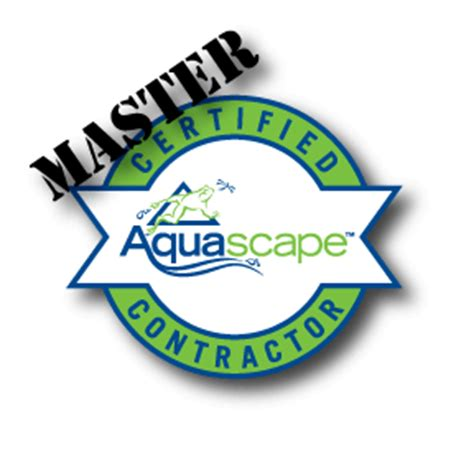 Certified Aquascape Contractor by Master Cac Logo A Frog S