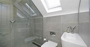 Big cement look tiles in small space hp bathroom for Bathroom discount fulham