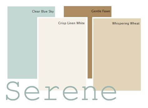 a classic serene color palette clear blue sky crisp