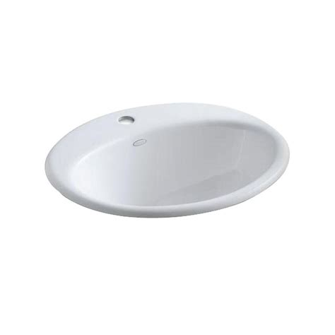 kohler farmington bathroom sink kohler farmington drop in cast iron bathroom sink in white