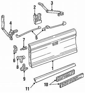 Tailgate For 1991 Chevrolet S10  Tahoe