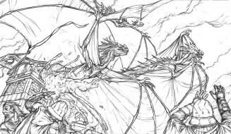 Cool Fire Dragon Drawings