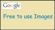 How to search free images to use on Google - YouTube