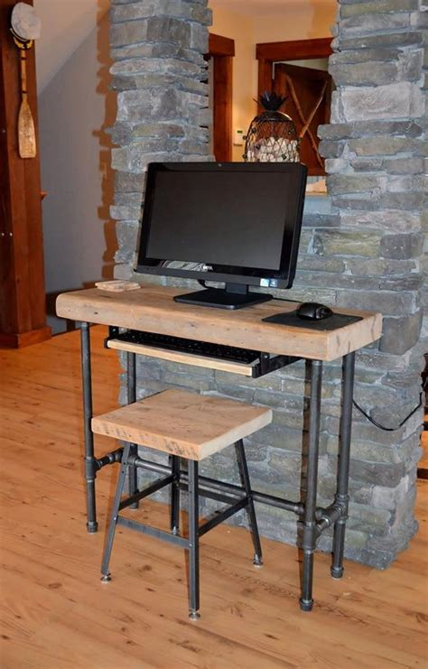 small urban wood laptop computer desk reclaimed  dendroco