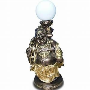 Buddha Figuren Deko : deko figur buddha mit wei er kugel lampe ~ Indierocktalk.com Haus und Dekorationen
