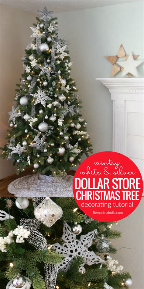 remodelaholic wintry white and silver christmas tree
