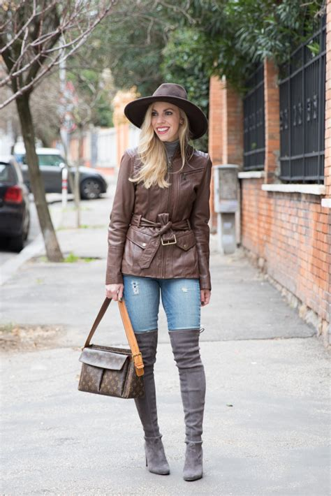 Neutral Textures Panama Hat Leather Jacket And Suede