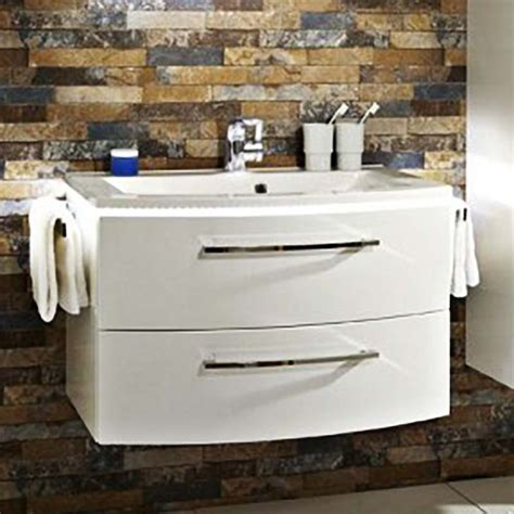buy lunic 800 wall hung vanity unit including basin