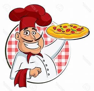 Best Cook Pizza Stock Vector Chef Cartoon Design