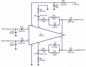 La3161 Stereo Preamplifier For Car Stereo  12v Operation