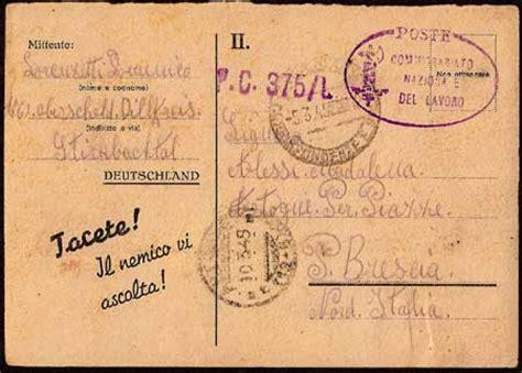 Ufficio Collocamento Brescia Storia Postale Italiana