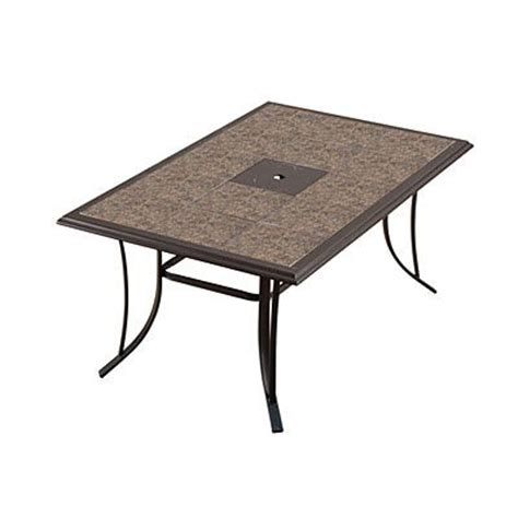 Wilson Fisher Patio Table by Wilson Fisher 174 Monterra 65 Quot Rectangular Tile Top Dining