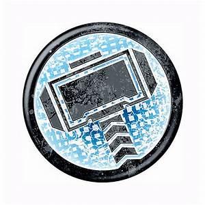 Thor Hammer Icon Symbol Button