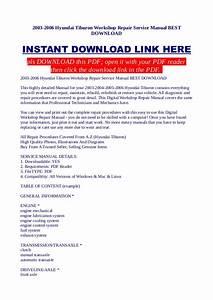 Hyundai Tiburon Repair Manual Download 2006 2008