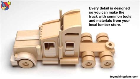 wood toy plans famous kenworth semi truck  trailer youtube