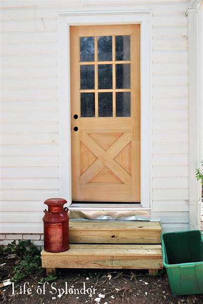 Door Kitchen Outside Side Entrance Adding Thewhitebuffalostylingco