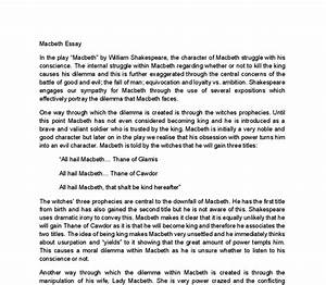 Macbeth Literary Essay Letter Of Assignment How To Write A Macbeth  Macbeth Literary Essay Grade   Write My Philosophy Paper Essay About Health also Sample Essays For High School Students  Reflective Essay Sample Paper