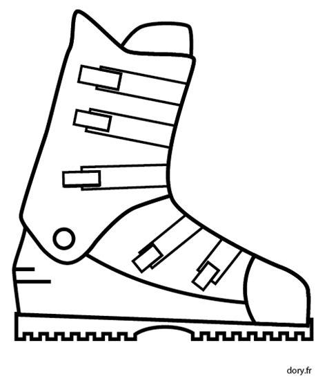 coloriage ustensiles de cuisine dessin gratuit à imprimer une chaussure de ski dory fr
