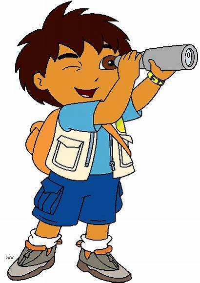 Cartoon Clip Diego Clipart Dora Characters Explorer