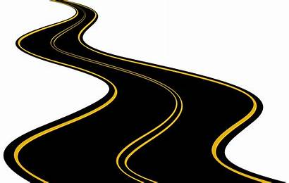 Road Clipart Clip Transparent Winding Highway Yellow