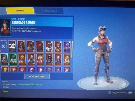 fortnite account  renegade raider  skins