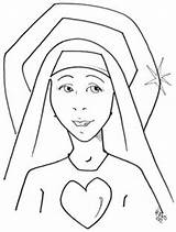 Coloring Nun Pages Catholic Crafts Para Colorear Mary Clipart Classroom Heart Dibujo Saints Religious Activities Education Lady 77kb 312px Sketch sketch template