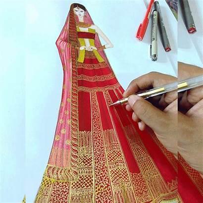 Sketches Indian Sketch Drawing Draw Lehenga Drawings