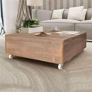 Table Basse Bois : acheter vidaxl table basse bois massif marron pas cher ~ Teatrodelosmanantiales.com Idées de Décoration
