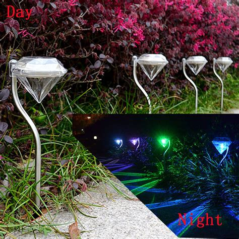 4 215 waterproof led solar power yard path garden lawn