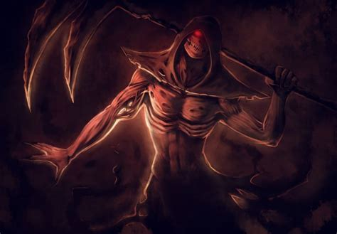 Creepy Anime Wallpaper - grim reaper horror skeletons skull creepy anime