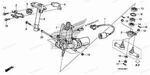 Honda Atv 2010 Oem Parts Diagram For Steering Shaft  Eps