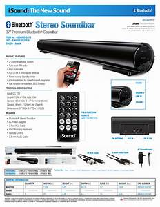 Isound Bluetooth Stereo Soundbar