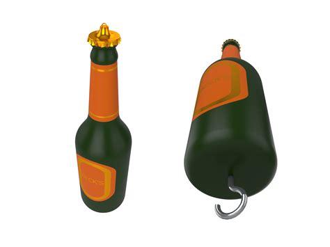 fishing bobber beer bottle invention lure novelty