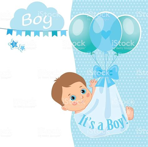 Baby Shower Card Templates The Image Baby Boy Shower Card Vector Illustration Card Template