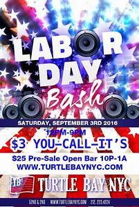 Labor Day Bash at Turtle Bay - MurphGuide: NYC Bar Guide