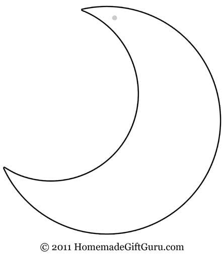 moon template more gift tag templates shapes