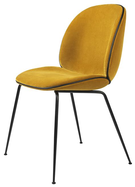 chaise cherner gubi beetle chair metal legs fully upholstered shell
